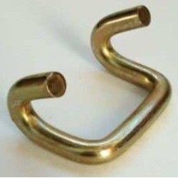 Gancho metálico con punta doble
